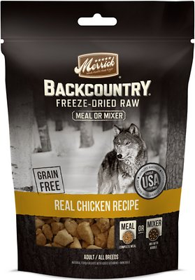 Merrick Backcountry Freeze-Dried Raw Real Chicken Recipe Grain-Free Freeze-Dried Dog Food, 5.5 oz bag