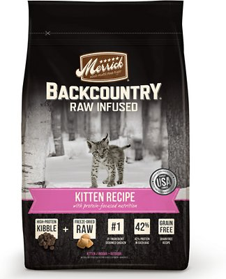 Merrick Backcountry Raw Infused Kitten Recipe Grain-Free Dry Cat Food, 3-lb bag