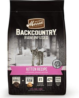 Merrick Backcountry Raw Infused Kitten Recipe Grain-Free Dry Cat Food, 6-lb bag