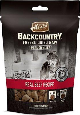 Merrick Backcountry Freeze-Dried Raw Real Beef Recipe Grain-Free Freeze-Dried Dog Food