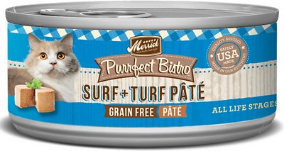 Merrick Purrfect Bistro Grain-Free Surf & Turf Pate Canned Cat Food
