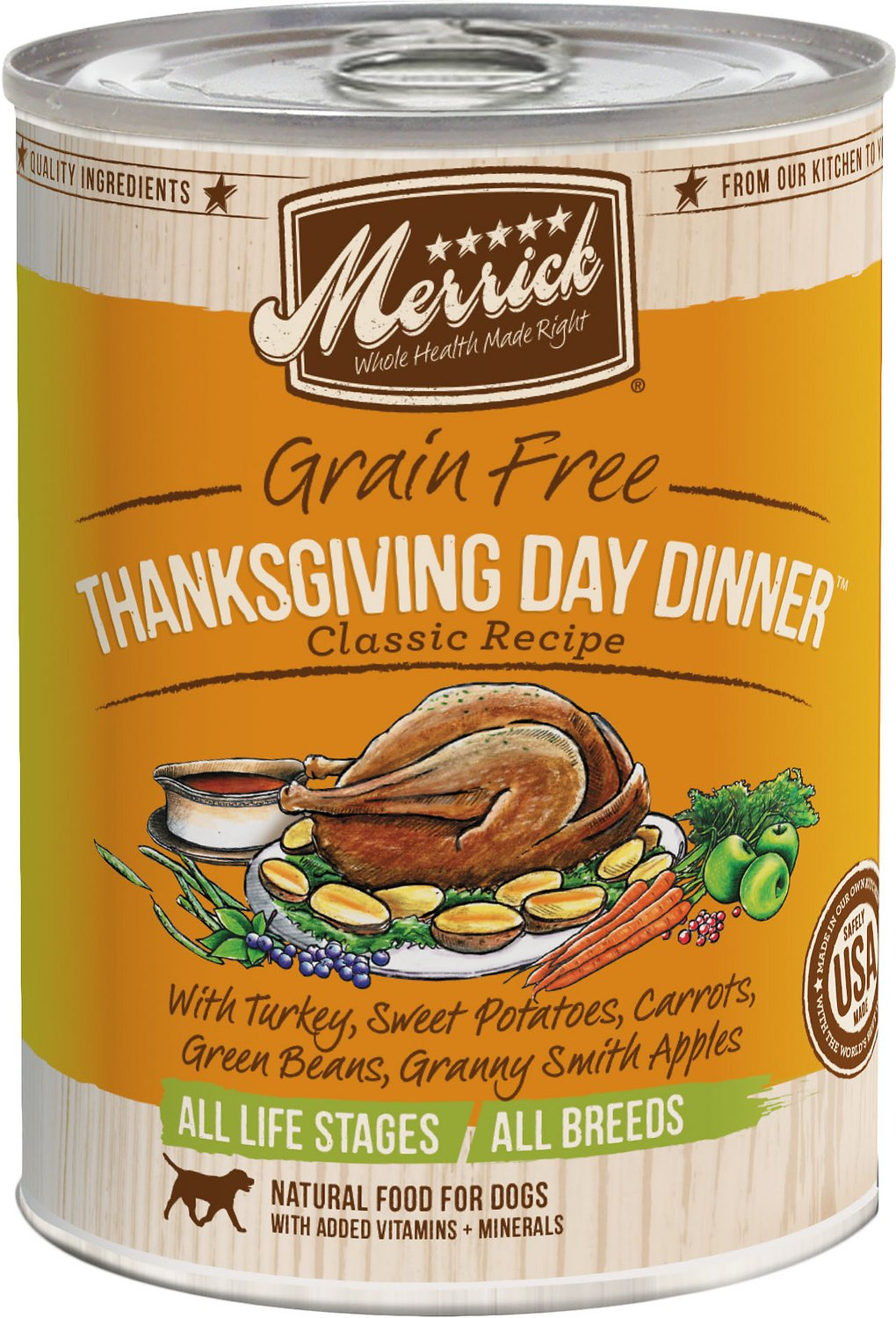 Merrick Grain-Free Thanksgiving Day Dinner Canned Dog Food, 12.7-oz Size: 12.7-oz