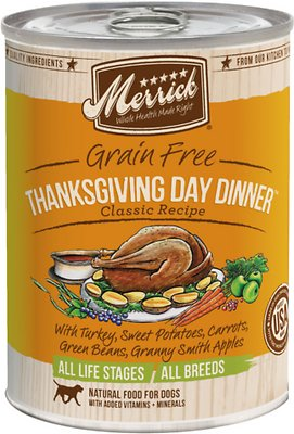Merrick Grain-Free Thanksgiving Day Dinner Canned Dog Food, 13.2-oz, case of 12