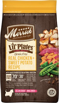 Merrick Lil' Plates Grain-Free Real Chicken & Sweet Potato Dry Dog Food, 4-lb bag