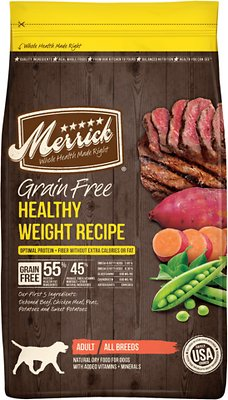 Merrick Grain-Free Healthy Weight Recipe Dry Dog Food, 4-lb bag (original)