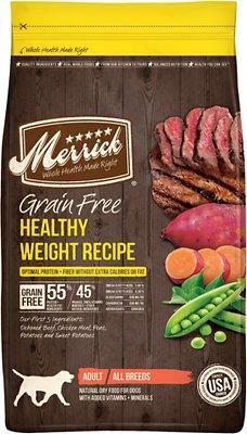 Merrick Grain-Free Healthy Weight Recipe Dry Dog Food, 25-lb bag (original)