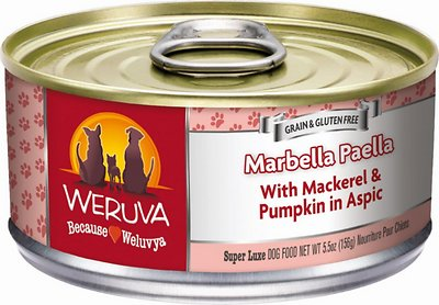 Weruva Dog Classic Marbella Paella with Mackerel & Pumpkin in Aspic Grain-Free Wet Dog Food, 5.5-oz, case of 24