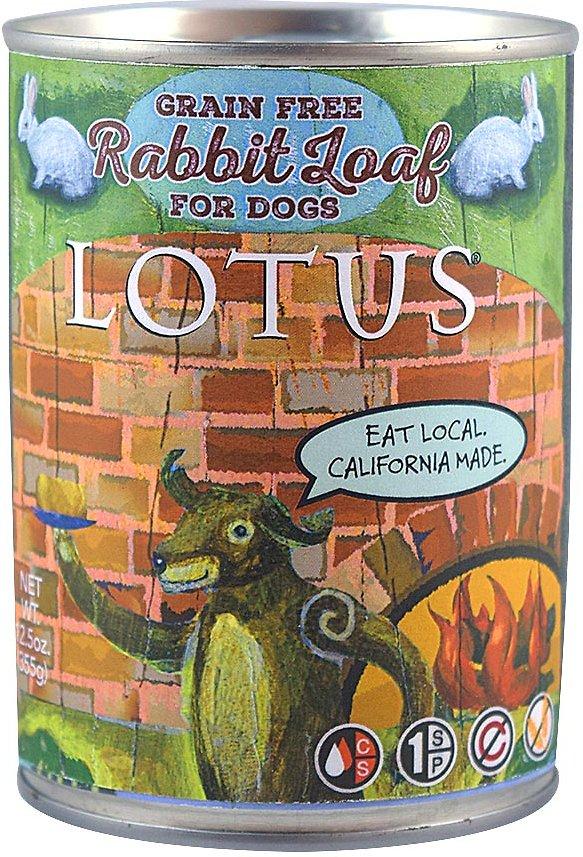 Lotus Rabbit Loaf Grain-Free Canned Dog Food, 12.5-oz