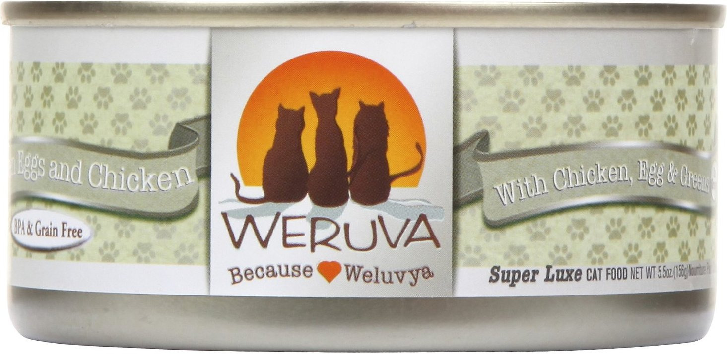 Weruva Cat Classic Green Eggs & Chicken with Chicken, Egg & Greens in Gravy Grain-Free Wet Cat Food, 5.5-oz
