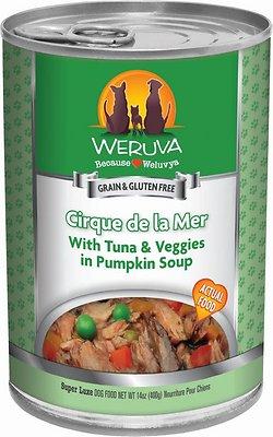 Weruva Dog Classic Cirque De La Mer with Tuna & Veggies in Pumpkin Soup Grain-Free Wet Dog Food, 14-oz, case of 12