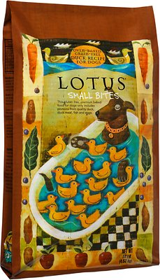 Lotus Oven-Baked Duck Small Bites Recipe Grain-Free Dry Dog Food