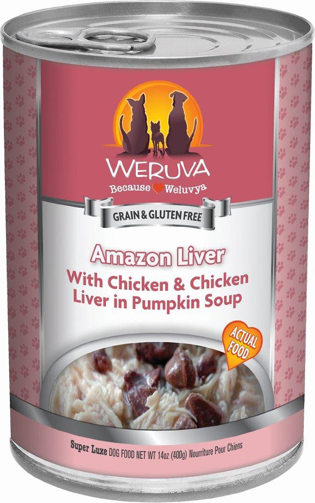 Weruva Dog Classic Amazon Liver with Chicken & Chicken Liver in Pumpkin Soup Grain-Free Wet Dog Food, 14-oz