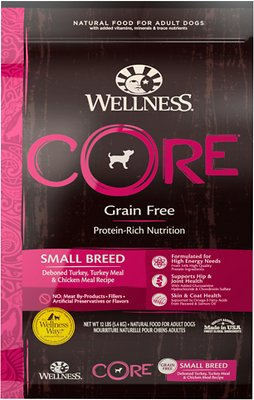 Wellness CORE Grain-Free Small Breed Turkey & Chicken Recipe Dry Dog Food, 12-lb bag