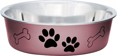 Loving Pets Bella Bowls Pet Bowl, Metallic Grape, Large
