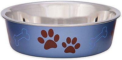 Loving Pets Bella Bowls Pet Bowl, Metallic Blueberry, Medium