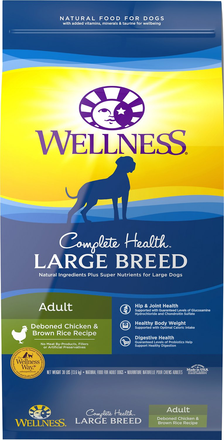 Wellness Large Breed Complete Health Adult Deboned Chicken & Brown Rice Recipe Dry Dog Food Image