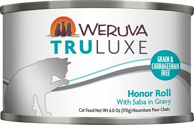 Weruva Cat Truluxe Honor Roll with Saba in Gravy Grain-Free Wet Cat Food, 6-oz, case of 24