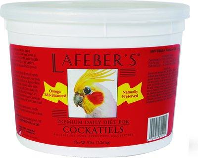Lafeber Premium Daily Diet Cockatiel Bird Food, 5-lb tub