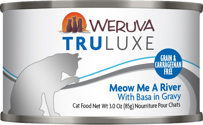 Weruva Cat Truluxe Meow Me A River with Basa in Gravy Grain-Free Wet Cat Food, 6-oz
