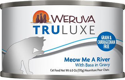Weruva Cat Truluxe Meow Me A River with Basa in Gravy Grain-Free Wet Cat Food, 6-oz, case of 24