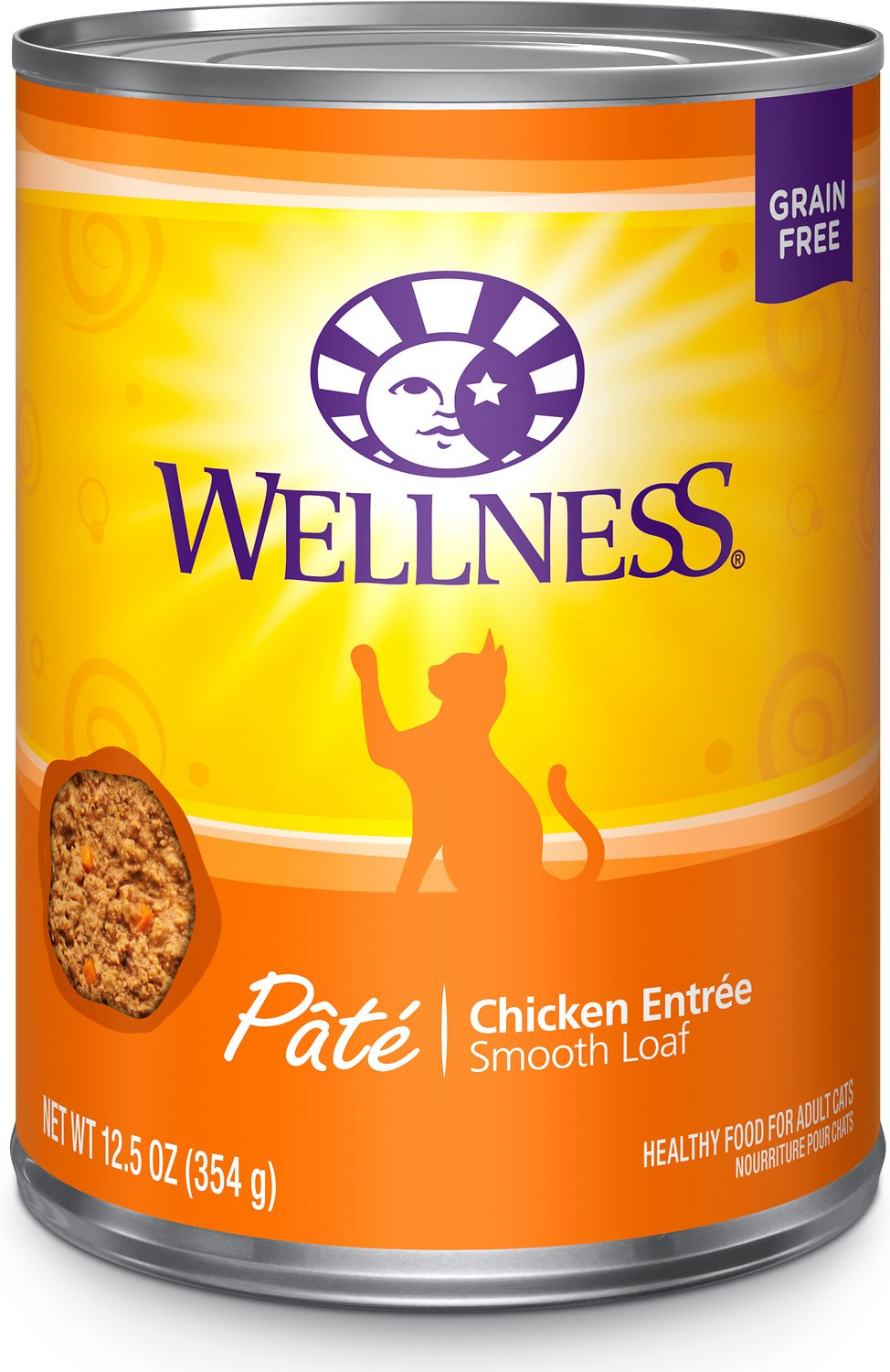 Wellness Complete Health Pate Chicken Entree Grain-Free Canned Cat Food, 12.5-oz