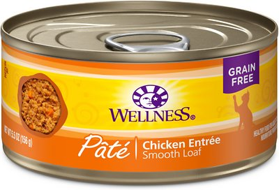 Wellness Complete Health Pate Chicken Entree Grain-Free Canned Cat Food, 5.5-oz