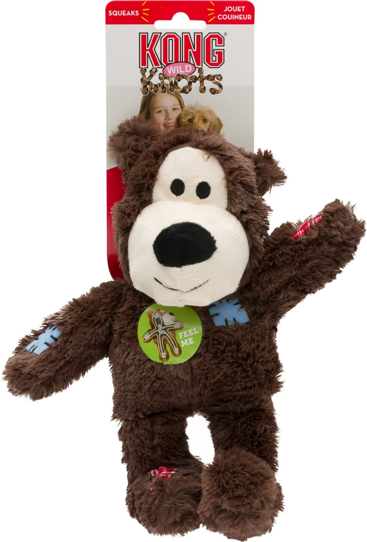 KONG Wild Knots Bear Dog Toy, Color Varies Image