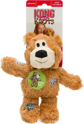 KONG Wild Knots Bear Dog Toy, Color Varies, Small/Medium
