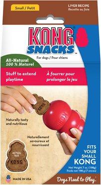 KONG Stuff'N Liver Snacks Crunchy Dog Treats, 7-oz