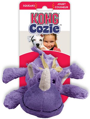 KONG Cozie Rosie the Rhino Dog Toy, Medium