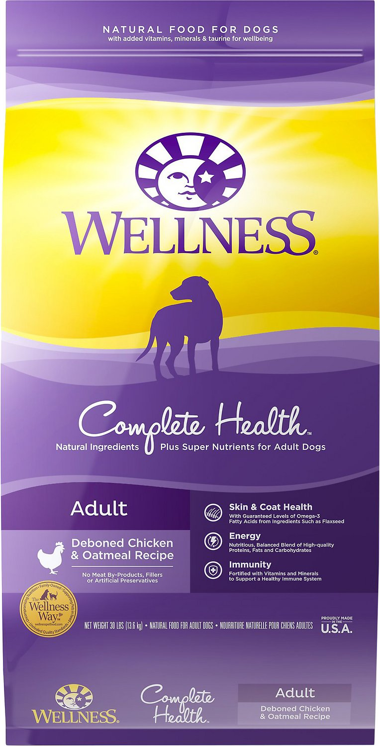 Wellness Complete Health Adult Deboned Chicken & Oatmeal Recipe Dry Dog Food Image