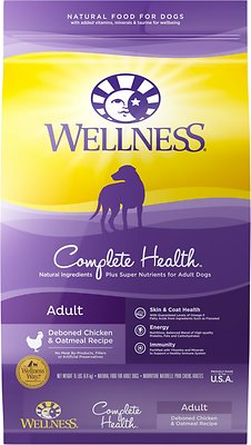 Wellness Complete Health Adult Deboned Chicken & Oatmeal Recipe Dry Dog Food, 15-lb bag