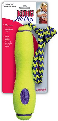 KONG AirDog Fetch Stick with Rope Dog Toy, Medium