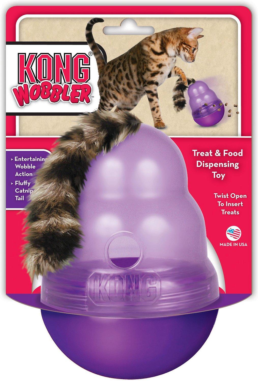 KONG Cat Wobbler Treat Dispenser