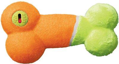 KONG AirDog Off/On Squeaker Bone Dog Toy, Color Varies, Medium