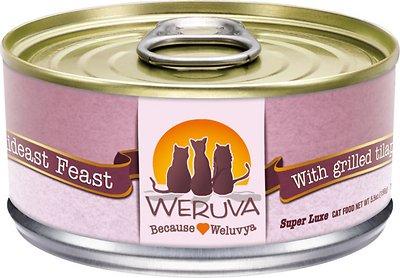 Weruva Cat Classic Mideast Feast with Grilled Tilapia in Gravy Grain-Free Wet Cat Food, 5.5-oz, case of 24