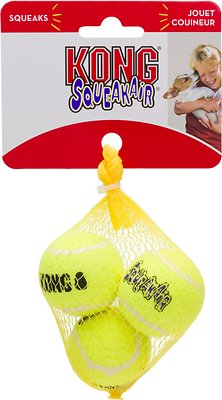 KONG AirDog Squeakair Balls Packs Dog Toy, X-Small