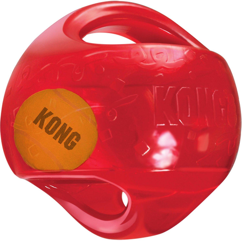 KONG Jumbler Ball Dog Toy, Color Varies Image
