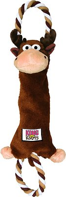 KONG Tuggerknots Moose Dog Toy, Small/Medium
