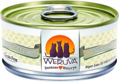 Weruva Cat Classic Paw Lickin' Chicken in Gravy Grain-Free Wet Cat Food, 5.5-oz