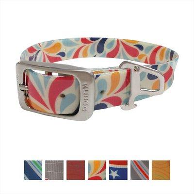 Kurgo Waterproof Muck Dog Collar, Color Splash, Large