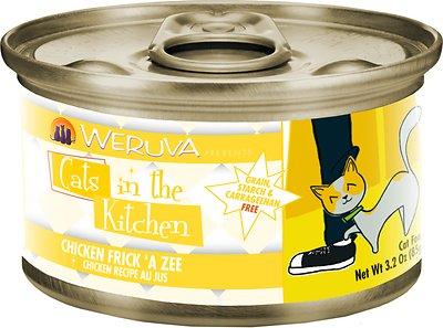 Weruva Cats in the Kitchen Chicken Frick 'A Zee Chicken Recipe Au Jus Grain-Free Wet Cat Food, 3.2-oz, case of 24