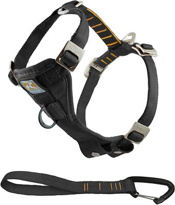 Kurgo Tru-Fit Smart Harness with Steel Nesting Buckles Enhanced Strength, Black, X-Large