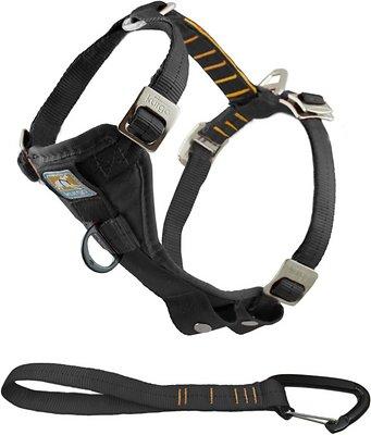 Kurgo Tru-Fit Smart Harness with Steel Nesting Buckles Enhanced Strength, Black, Large