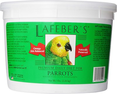 Lafeber Premium Daily Diet Parrot Bird Food, 5-lb tub