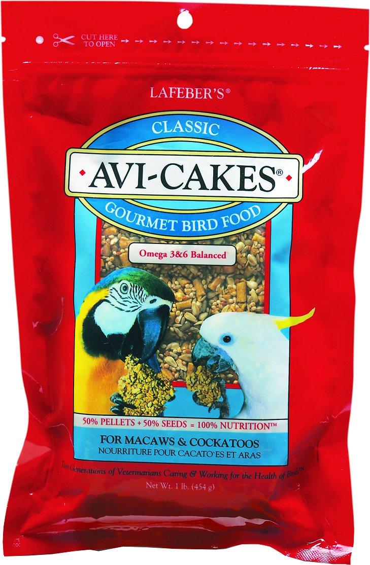 Lafeber Classic Avi-Cakes Macaw & Cockatoo Bird Food, 1-lb bag