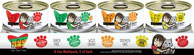 BFF Originals Variety Pack Grain-Free Wet Cat Food, 5.5-oz, tray of 8