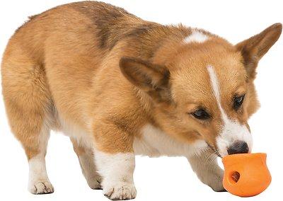West Paw Zogoflex Toppl Dog Toy, Tangerine, Small
