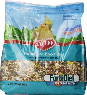 Kaytee Forti-Diet Pro Health Cockatiel Bird Food, 5-lb bag