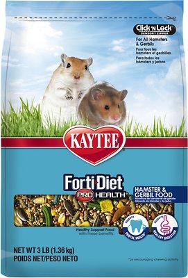 Kaytee Forti-Diet Pro Health Hamster & Gerbil Food, 3-lb bag